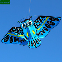 New 110*50cm Colorful Owl Kite with Kite Line Easy To Fly Outdoor Toy for Children