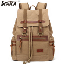 2016 new men canvas shoulder bag Europe and the United States retro men bag leisure  travel backpack computer bag