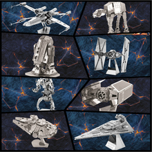 Free Shipping Hot Sale puzzle toys maquetas star wars metal Building Kits 3D Scale Models DIY Metallic Nano Puzzle Toys(China)