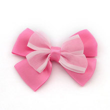 12pcs cheap 6cm double layered ribbon bow DIY hair bows without clips,wedding party girls headbands embellishments