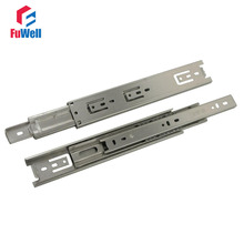 2pcs 24'' Drawer Slide 45mm Width Stainless Steel Fold Telescopic Ball Bearing Drawer Runner for Furniture Cabinet Sliding(China)