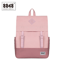 Women's Casual Backpacks Popular European American Style School Bags For College Student Sample Patchwork Knapsack 173-002-003(China)