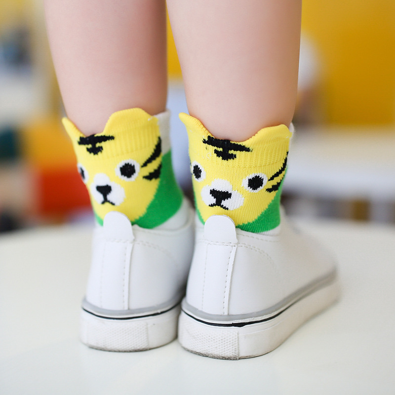 children socks cotton socks wholesale Android products followed by three dimensional cartoon panda tiger fox cotton socks(China)