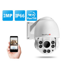 Secuplug+ 2MP 1080P PTZ IP Dome Camera Middle Speed Support 10X Optical Zoom ,Sell phone ,Onvif,Night Vision outdoor cctv camera(China)