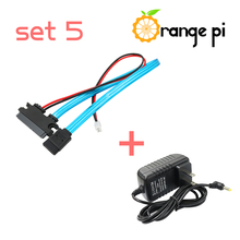 Orange PI Set 5 : Sata Cable + Power Supply. Orange PI is not included in this set.(China)