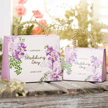 Free shipping High-quality Butterfly Flower Candy Boxes Wedding favors Portable Gift Box Party Favor Decoration 100pcs/lot(China)
