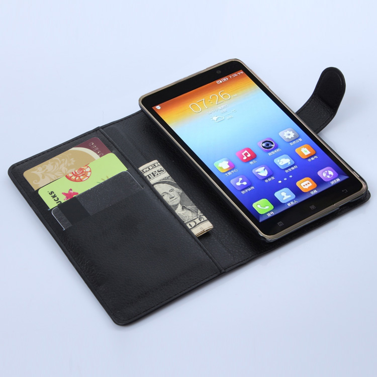 S898 Lenovo S8 Case S898T Wallet Card Stent Cases Lichee Pattern Flip Leather Cases Protect Cover black 8 Lenovo898