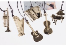4pcs/lot Cute Silver Metal Bookmark Fashion Musial Piano Guitar Bookmark for Book Creative Gift Korean Stationery gifts