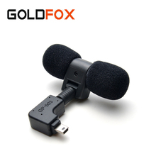 For Go Pro Sport Camera DV 3.5mm No Noise Mic Mini Stereo Microphone For Gopro Hero 4 3 3+ Protective Frame Case Mount Adapter(China)