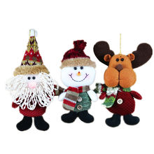 2017 New Year 3pcs Christmas Santa Doll Pendant Christmas Tree Decorations For Home Hanging Ornaments Crafts Decor Supplies SD61