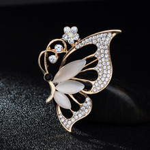 New Cute Opal Butterfly Brooches Jewelry Fahion beautiful Women Unique Gift Wedding Bijoux Pins Boaches Innovative Item