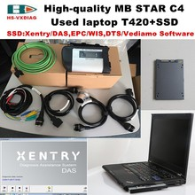 High quality obd 2 scanner mb star c4+Laptop T420(I5/4G)+2017 12 vediamo/DTS SSD Professional for Mercedes benz car diagnosti to(China)