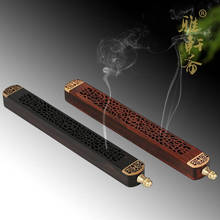 Calamander wool cutout incense furnace lying incense santalwood line incense burner hong board perfume pomades incense holder(China)