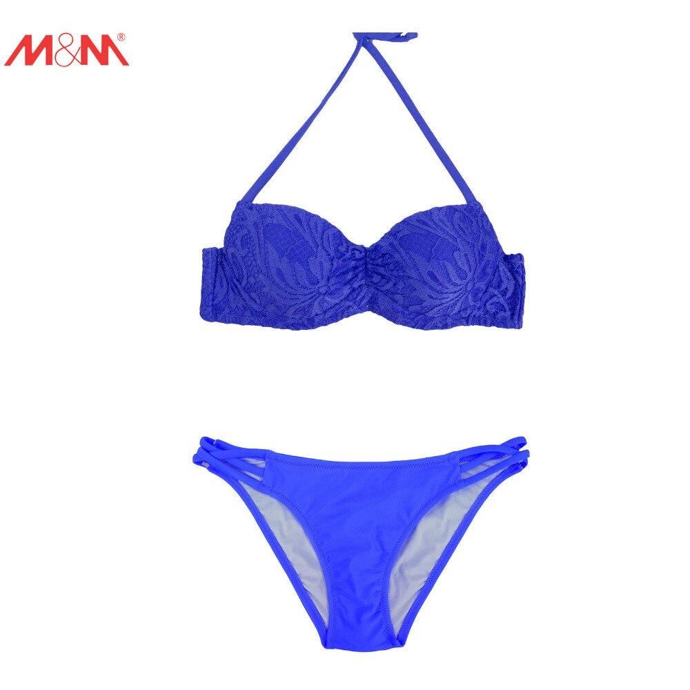 M&amp;M Women Push Up Sexy Bikini Set Brazilian Cotout Low Waist Bottom Swimsuit Beach Halter Swimwear Print Bathing Suit Biquini<br><br>Aliexpress