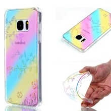 Fashion Plating Style Diamond Thin Case for Samsung Galaxy S7 S7edge Back Cover Colorful Stars Snow Soft TPU Case Shell