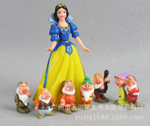 5-13cm 8pc/lot PVC Snow White and the Seven Dwarfs Classic Toy Figure Collection Action Figure Anime Kids toy 100set/lot(China)
