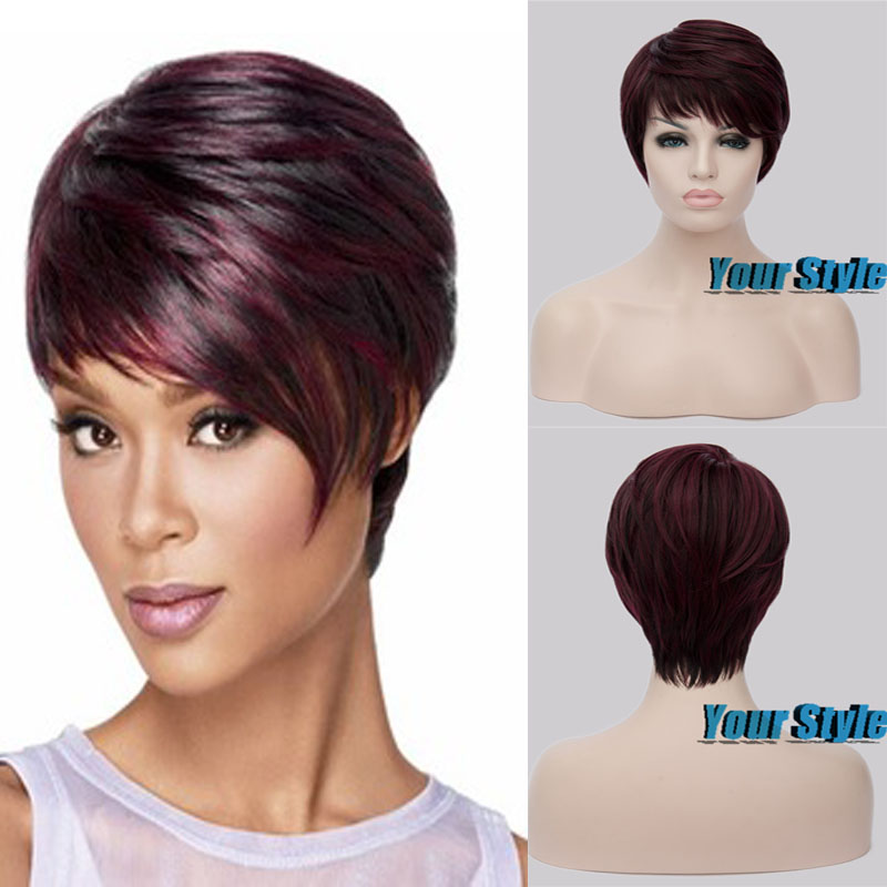 2015 New Pixie Female Cut Hairstyle Synthetic Wigs Short Hair Straight  Wigs for Women Perruque Natural Pelucas Cosplay<br><br>Aliexpress