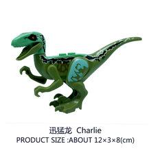 Jurassic World Animal Velociraptor Blue Raptor Dinosaur Model Action Figure  Building Blocks Toys Kids Gifts Compatible With Lego 83c7dd182be8