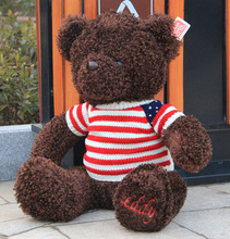 110cm High Quality giant teddy bear life size Lovely teddy bear stuffed Plush toy Cute Christmas valentine gift baby boy toys