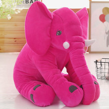 large 60x50cm hot pink elephant plush toy soft throw pillow Christmas gift b0178(China)