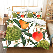 Tropical Rainforest Plant Bedding Set Duvet Covers Pillowcases Fruit Cactus Bed Set Comforter Bedding Sets Bedclothes Bed Linen(China)