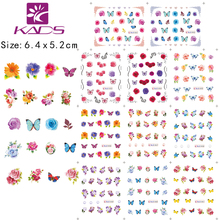11Sheet/SET BLE1951-1961 Butterflies & flowers Water decal Nail Stickers nail design for nail accessories water transfer sticker