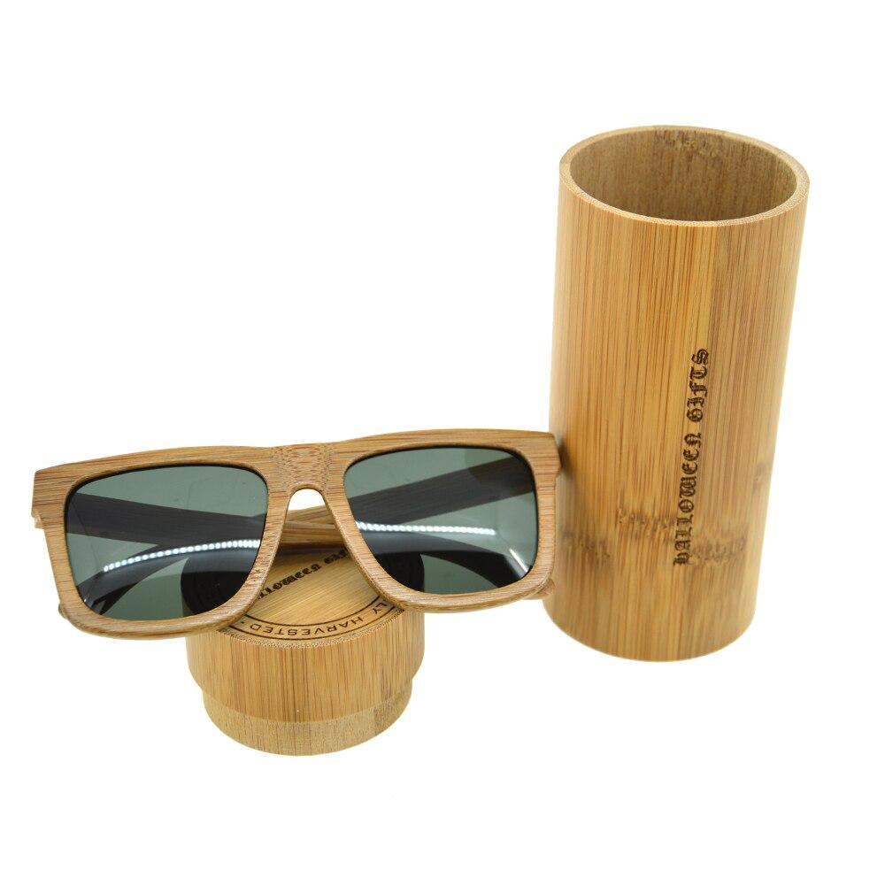 HALLOWEEN GIFTS Bamboo Sunglasses Women Men au Retro Vintage Bamboo Eyeglasses Green Round Lens Polarized oculos de sol feminino<br><br>Aliexpress