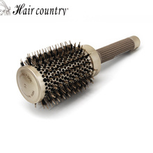 53mm Ceramic Iron Radial Round Comb Hair Dressing Brush Salon Styling Barrel Free Shipping Plastic Combs For Hair New Color