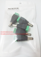NCHTEK CCTV Camera Balun 2.5x5.5mm DC Power Male Plug , DC 5.5 /2.5 Male Charger To Terminals Block,500pcs Wholesale(China)