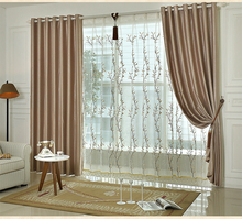 British fashion high-grade thick plaid double jacquard blackout curtains living room bedroom balcony