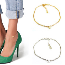 1pc Fashion Butterfly Chain Anklets Ankle Bracelet Silver Gold Alloy Barefoot Sandal Beach Foot Womens Party Jewelry Wholesale