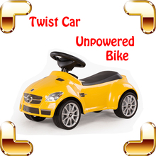 New Year Gift SLK55 Four Wheels Swing Car Kids Twist Car Safety Baby Car Toys Ride Outside Child Sport Speed Car