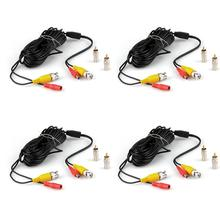 4x10M 33FT DC Security CCTV CCD Surveillance Camera Power Video BNC RCA Cable