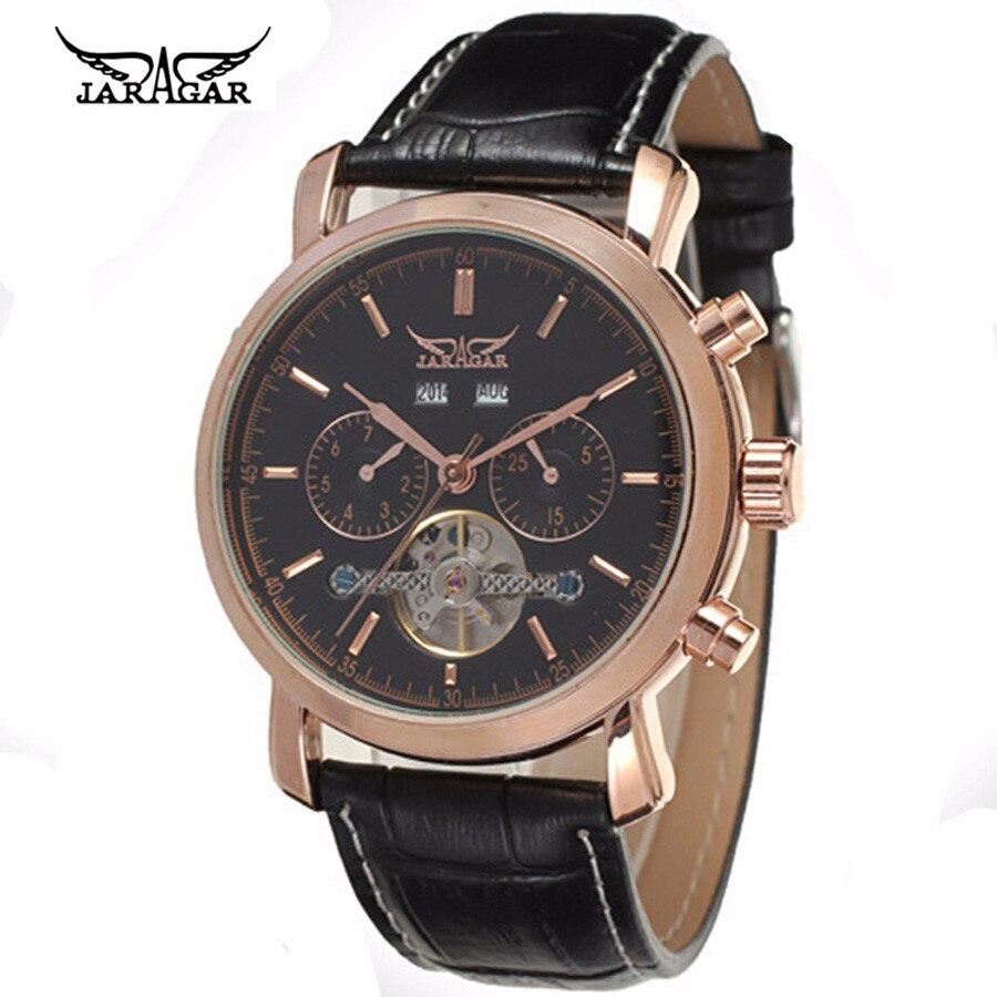 2016 Hot Tourbillon watches luxury men mechanical watches JARAGAR Famous Brand Waterproof 30m fashion mens watch hours<br>