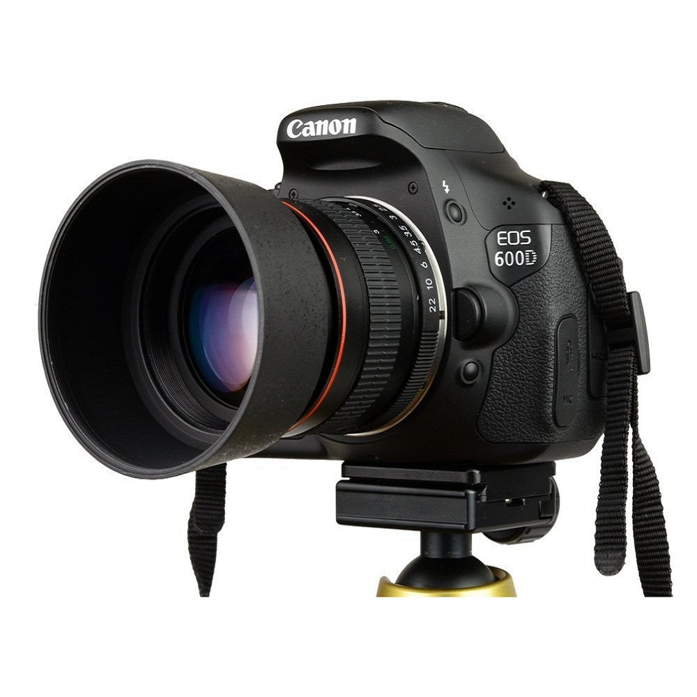 Lightdow 85mm F1.8-F22 Manual Focus Portrait Lens Camera Lens for Canon EOS 550D 600D 700D 5D 6D 7D 60D DSLR Cameras 1