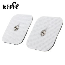 KIFIT Pair Square Tens Machine Replacement Electrode Pads Massagers 45x45MM Reusable Adhesion Massage Health Care Supplies(China)
