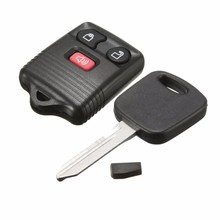 3 Button Keyless Entry Remote Fob Key + Transponder Chip For Ford F150 F250 F350