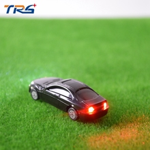 20pcs 2017 New Style 1:100 Scale Model Car with LED Light miniature model toy car scale model light car