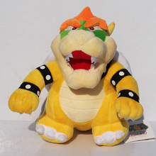 "2017New 10"" 25cm Stand Super Mario Bros Bowser Koopa Plush Toy Stuffed Animal Dolls Toy Great Gift Free Shipping(China)"