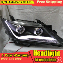 Car styling for Toyota Camry LED Headlights 2012-2013 Headlamp assembly Turn lights DRL lens H7 HID xenon bi xenon lens