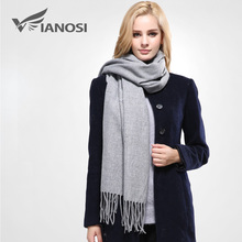 [VIANOSI] New Luxury Scarf Winter Women Scarf Female Cotton Solid Scarf Best Quality Pashmina Studios Tassels Women Wraps VS073(China)