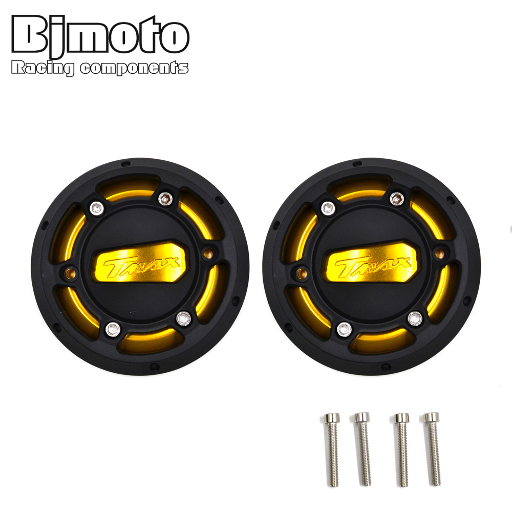 BJMOTO 2 Pcs Engine Stator Cover CNC Engine Protective Cover Protector For Yamaha T MAX 530 2012-2016 Yamaha T-max 500 2008-2011<br>