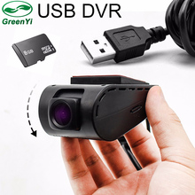 GreenYi The HD USB DVR Camera for Android 5.1 6.0 7.1 Viedo DVD Player Headunit Support SD Card(China)