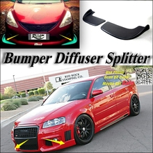 Splitter Diffuser Bumper Canard Lip For Audi A3 For S3 For RS3 Tuning Body Kit / Car Front Deflector Flap Fin Chin Reduce Body