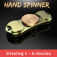 Fine Copper Material Tri-spinner Finger Gyro Bearings For Autism And ADHD Rotation Time Long Anti Reduce Stress Toys Gift