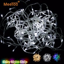 10m Christmas New Year's Colorful LED String Light Waterproof Fairy Lights Garlands LED Curtain Party Decorating with Tail Plug(China)
