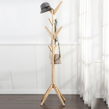 Home Hangers Wood Coat Hat Rack Morden Bedroom Hall Stand Bag Clothes Holder Tree Pattern Storage Coat Rack