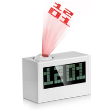 Large Screen LED Projection Clock Electronic Desk Clock Nixie Projector Watch Talking Digital alarm Clock With Time Projection