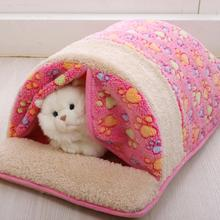 ute Cat Sleeping Bag Warm Dog Cat Bed Pet Dog House Lovely Soft Pet Cat Mat Cushion High Quality Products Lovely Design