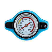 Car Accessory Thermost Radiator Cap COVER + Water Temp Gauge 0.9BAR or 1.1BAR or 1.3 BAR Cover for Cars